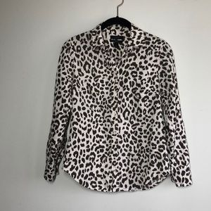 J Crew Perfect Shirt in Leopard